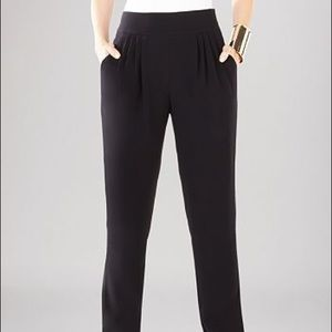 BCBGMaxAzria Crepe High Waist Black Pant 6